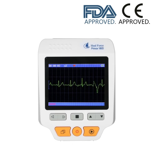 Heal Force Medical Portable EKG EKG Monitor Maschine 3 Kanal Herzfrequenzmesser