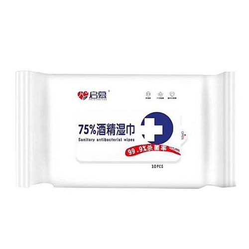 10pcs 75% Alcohol Wet Wipes Dis-infection S-anitary Hand Wipes Anti-septic Cleanser Cleaning Cotton S-terilization Swabs Pads