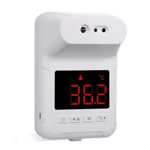 Non-Contact Infrared Forehead Thermometer Wall-Mounted Infrared Thermometer °C / °F Switch for Office Home Supermarket Subway School Community Entrance
