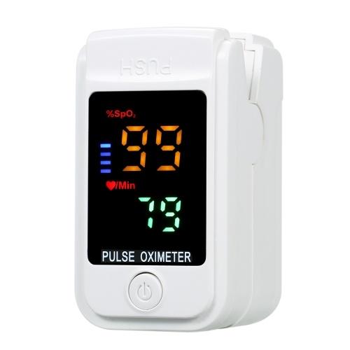 Fingertip Clip Pulse Oximeter L-ED Colorful Screen Display Mini SpO2 Monitor