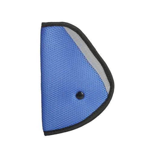 Asiento de Seguridad Cinturón Ajustador Posicionador Cobertura Cojín Arnés para Niño Niño Azul