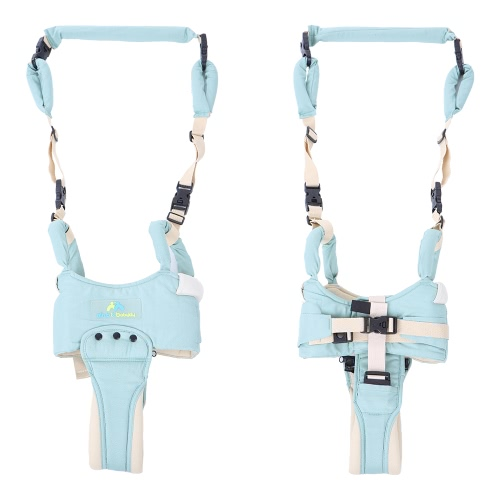 5 en 1 Baby Walker Helper Handheld avec sangle de crochet détachable Toddler Safe Walking Harness Collier de protection réglable Assistant de ceinture d'apprentissage Coton vert