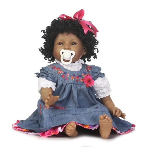 22inch 55cm Reborn Toddler Baby Doll Girl PP Cotton Filling Body Boneca With Clothes Lifelike Cute Gifts Toy