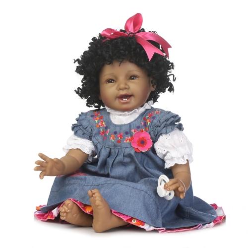 22inch 55cm Reborn maluch Baby Doll Girl PP Wypełnianie ciała Ciąża Boneca z ubrania realistyczne słodkie prezenty zabawki