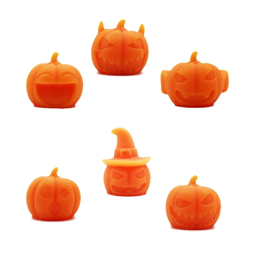 6Pcs Мягкий клей Pumpkin Toy Healing Squeeze Stretch