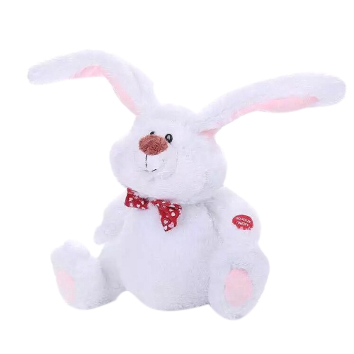 Easter Bunny Lovely Dancing Shaking Head Singing White Large Ears Conejo Juguete eléctrico