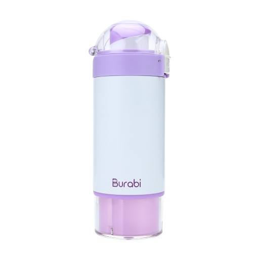 Insulated Cup 12oz With Formula Dispenser Double Wall Vacuum Bottle Thermos Stainless Steel Mug Purple