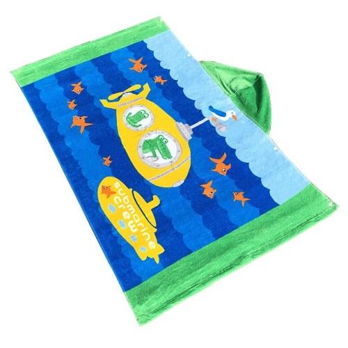 Niños con capucha Toalla de playa Manta de algodón Súper absorbente Baño catoon lindo Piscina de natación Toalla Manto de capa Boy Girl Sirena de pelo marrón