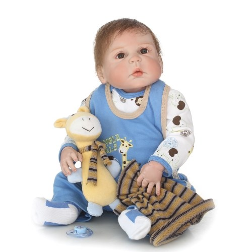 22in Reborn Baby Rebirth Doll Kids Gift All Silica Gel Boy
