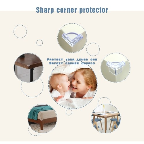 4Pcs/Pack Safety Corner Guards Table Corner Cushion for Tables & Furniture & Sharp corners Baby Proofing