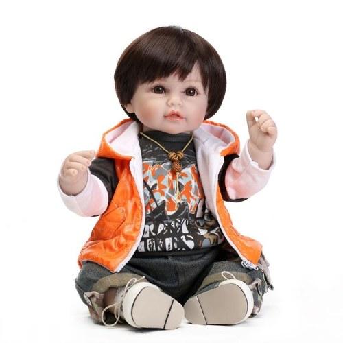 NPKCOLLECTION 134-1919 19in 50cm Reborn Baby  with Orange Vest