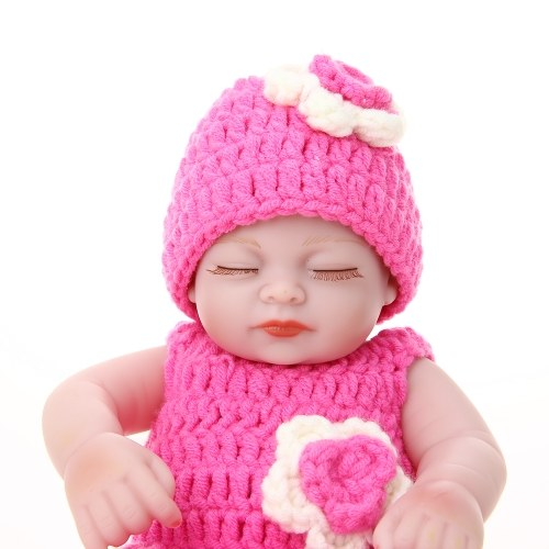 Reborn Baby Doll Girl Full Silicone Body Baby Bath Toy With Knitwear Clothes 10inch 25cm Lifelike Cute Gifts Toy