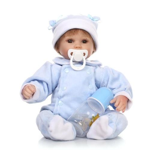 16in Reborn Baby Rebirth Doll Kids Подарочная ткань Материал Корпус