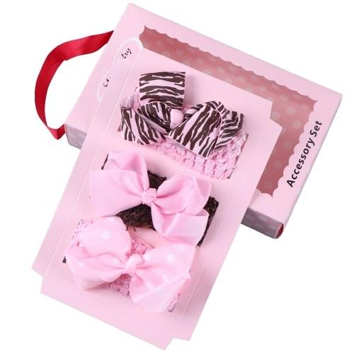Baby Girls Hair Accessory Set Hair Clips Barrettes Flower Headband