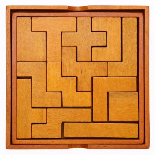 Деревянные головоломки 13 штук 3D Chunky Puzzle Building Block Раннее образование Развивающие игрушки Подарки для детей