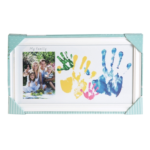 DIY Family Handprint Photo Keepsake Frame Kit Wooden Picture Frame