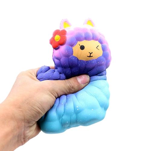Bild von Squishy langsam steigende Farbe Schaf Spielzeug duftenden weichen Telefon Riemen Anhänger Squeeze Dekompression Spielzeug