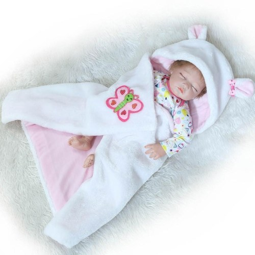 22in Reborn Baby Rebirth Doll Kids Gift Половина тела, покрытого одеялами