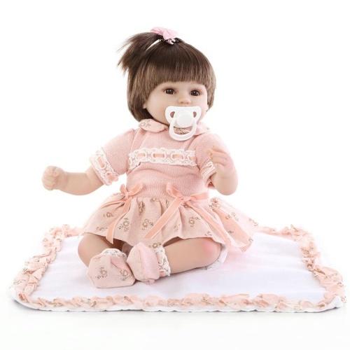 15in Reborn Baby Rebirth Doll Kids Подарочная ткань Материал Body Synthetic Hair