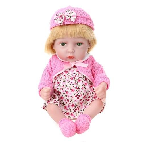 Reborn Baby Doll Girl Полные силиконовые игрушки для детской ванны с трикотажной одеждой 10inch 25cm Lifelike Cute Gifts Toy