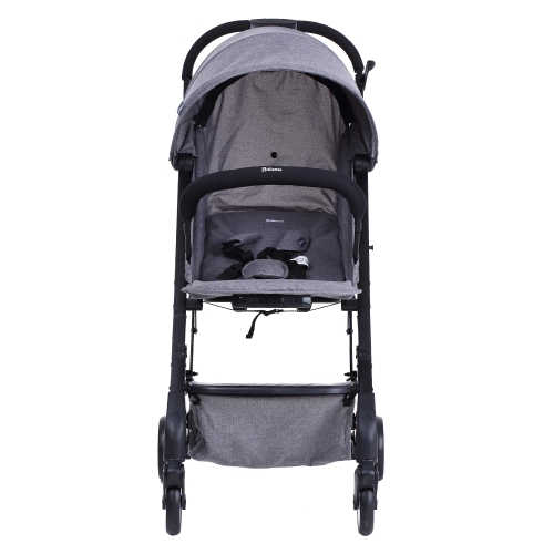 Haierbaby Brillante Baby Stroller Foldable Lightweight Portable Travel Baby Prams Buggy Pushchair   Waterproof Umbrella Wagon Can Sit And Lie Down Grey