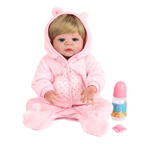22inch 55cm Reborn Baby Doll Girl Полная силиконовая игрушка для тела с одеждой Lifelike Cute Gifts Toy