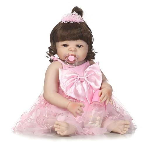 22in Reborn Baby Rebirth Doll Kids Gift Все силиконовые гелевые девушки