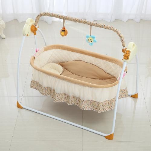 Электрическая детская подставка для колыбели Swing Rocking Connect Мобильная музыкальная спящая корзина Детская кроватка для новорожденных