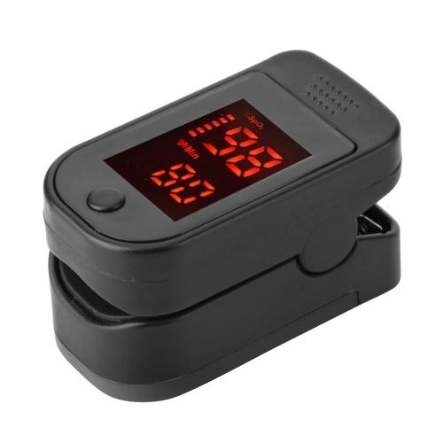 Fingertip Pulse Oximeter LED Digital Display for Gauging Pulse Rate Blood Oxygen Saturation Ward Monitoring Home Health Care