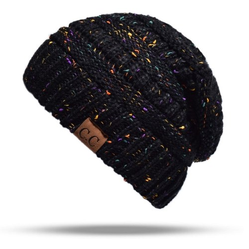 Женская стретч-вязаная шапочка