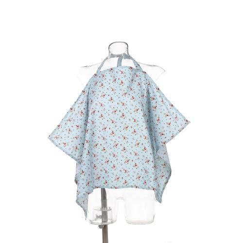 Хлопок Младенческая детская кормящая макияж Матери грудного вскармливания Фартук Baby Car Canopy Светло-голубой