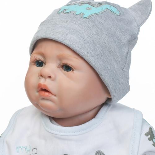 Odrodzona Baby Doll Zabawka Baby Bath Pełny Silikonowy Oczy Ciała Otwarte Z Odzież 20inch 50cm Żywe Słodkie Prezenty Toy Boy