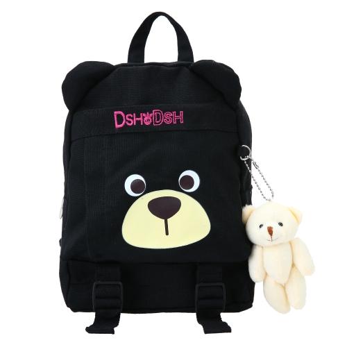 Plecaki szkolne dla dzieci Plecak na płótnie Słodkie dzieci Przedszkole Podstawowa tornister Kreskówka Niedźwiedź Pluszowe zabawki Czarne