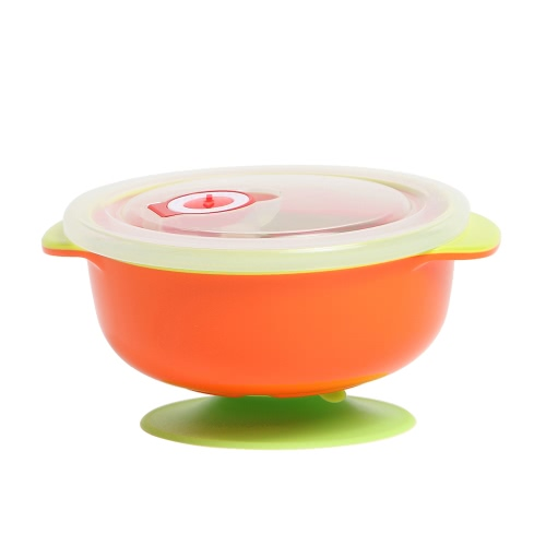 Baby Feeding Antibacterial Leakproof Stay Put Suction Bowl Food Storage Containers