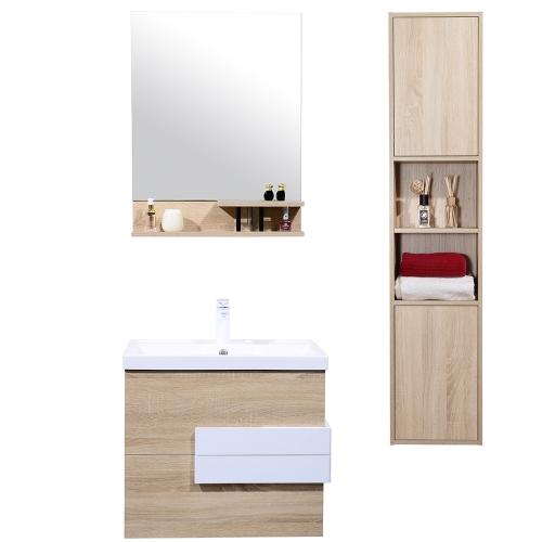 Meuble salle de bain avec colonne de rangement simple vasque - 600mm ou 800mm