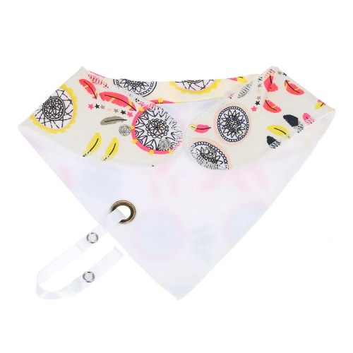 Baby Drool Bibs with Pacifier Clip Absorbent Burpy Cloths Drool Pinafore Double Cloth Organic Cotton Set 4 Pack 4 Kinds of Patterns For Girls Boys Yellow + Pink