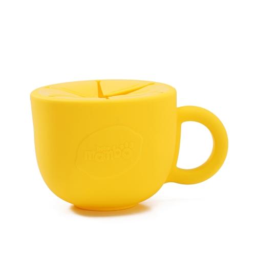 Ребенок Младенческая закуска Чаша Силиконовая чашка Малыш Кормление Продовольственная чаша Ручка Нет-Разлив Закуска Хранение Контейнер Дети Тарелка Посуда Синяя