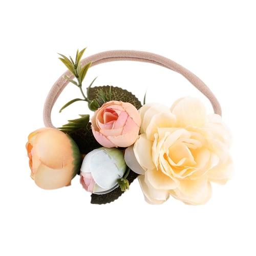 Niemowlę Niemowlak Kolorowe Kwiaty Liście Opaska Dziecięca Dzieci Moda Księżniczka Fryzjer Biżuteria