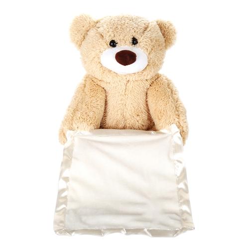 30Cm Peek A Boo Teddy Bear Animowany pluszowy pluszowy zwierzak