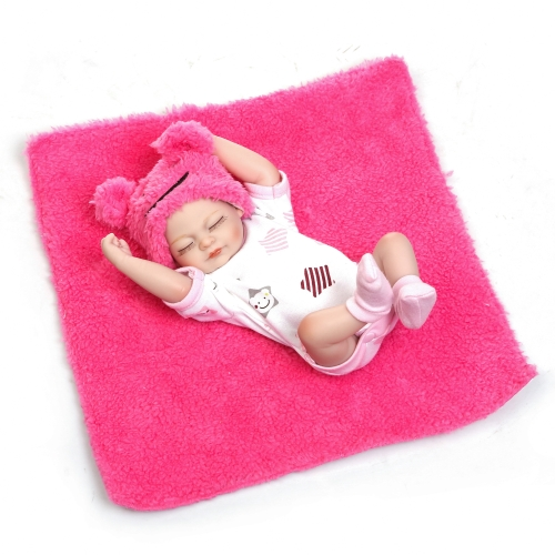 Reborn Baby Doll Baby Bath Toy Full Silicone Body Eyes Close Sleeping Baby doll С одеждой 10inch 25cm Lifelike Cute Gifts Toy