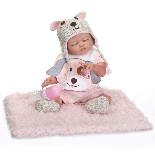 Reborn Baby Doll Girl Baby Bath Toy Full Silicone Body Eyes Open With Clothes 20inch 50cm Lifelike Cute Gifts Toy Boy