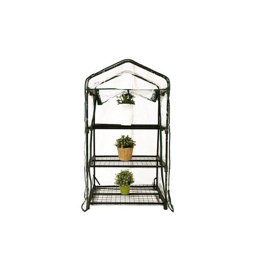 Mini Serre de jardin 3 étagères 69x49x125cm + une housse PVC supp ...