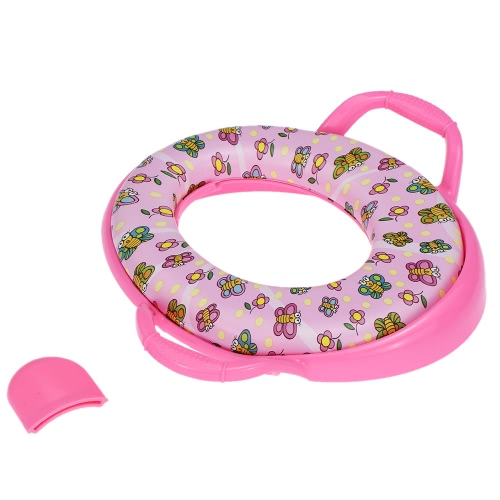 Karibu Kids Toddlers Soft Potty Seat with Handles for Standard Toilets
