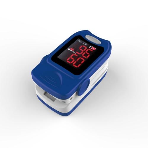 Oxímetro de pulso de dedo com diâmetro preciso Monitor de saturação de oxigênio no sangue SPO2 / Detector de taxa de pulso com cordão FDA / CE / ROHS Aprovado