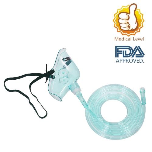 Máscara de oxigênio médico Decdeal 10PCS com concentração de O2 de tubulação 2M Aprovado pela FDA