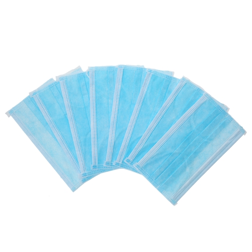 Carevas 50PCS Earloop Disposal Face Maskダスト/エア/インフルエンザのための3層不織フィルターマスク/臭気