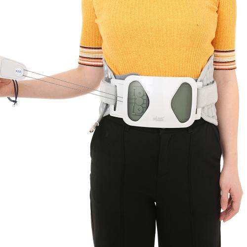 Carevas背圧緩和ベルト腰部サポートブレース脊柱エア牽引装置背部痛/脊椎狭窄症/坐骨神経痛4サイズ(24.9-43.3