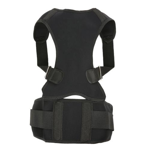 Corrector de postura Espalda de espalda para hombres y mujeres Soporte de clavícula ajustable para mejorar la postura Dolor de espalda Soporte lumbar