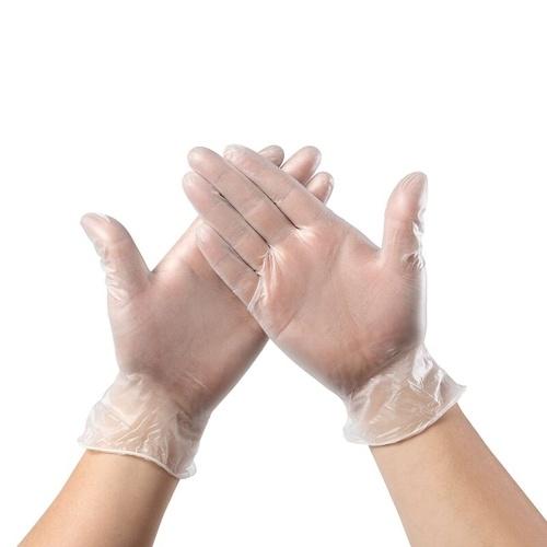 As luvas descartáveis do PVC escolhem o látex livre do pó transparente das luvas de AMMEX livre