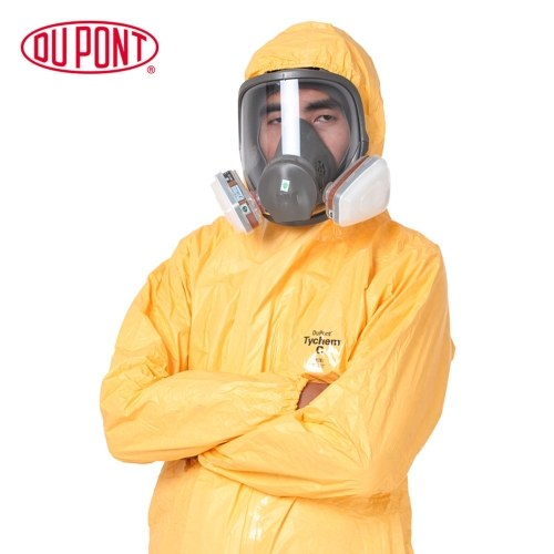 DU PONT Pro Safety Clothing Protective Coverall Chemicals Protective Clothing Hooded Sulfuric Acid Alkali Safety Coveralls Waterproof Chemical Suit